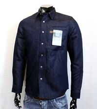 G-STAR RAW FAEROES JEANS HEMD M-S DENIM BLAU SLIM FIT BLOGGER SHIRT JACKE NEU
