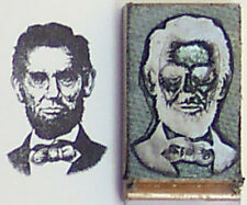 Abraham Lincoln rubber stamp by Amazing Arts