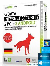 G data Internet Security 2016 versión completa 2 PC + 2 Android + Manual (PDF) nuevo