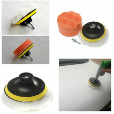 4 inch Polishing Buffer Sponge Pad Set &Drill Adapter For Car Polisher SW