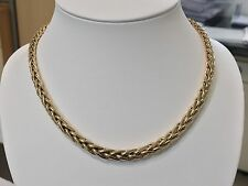 ♥ ♥ ♥Collier maille Palmier or 18K 9 mm ♥ ♥ ♥