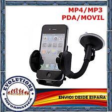 SOPORTE UNIVERSAL PARABRISAS VENTOSA COCHE MOVIL IPHONE SAMSUNG GALAXY S3 XPERIA