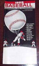 Baseball handbook and schedules 1965 Roberto Clemente Willie Mays Sandy Koufax