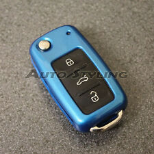 Blue VW SEAT SKODA Remote Key Cover Case Skin Shell Cap Fob Protection 57dblu