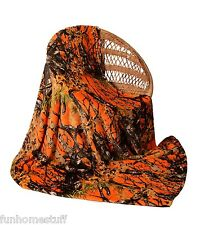 "CAMOUFLAGE ORANGE CAMO Woods Luxury Twin Soft Fleece CASHMERE Blanket 60"" x 80"""
