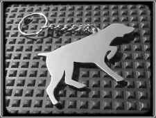 KEYRING DOG - POINTER - STAINLESS STEEL - HAND MADE - CHAIN LOOP KEY FOB