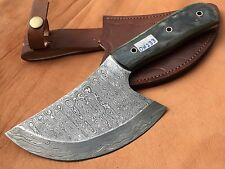 Handmade-Pattern Welded Damascus Steel Axe Full Tang Blade-Camping-Dh233