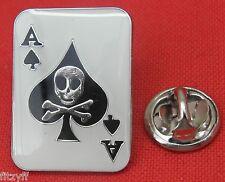 Ace of Spades Gambler Lapel Hat Cap Tie Pin Badge Brooch Poker