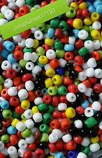 Perles de rocaille multicolore 4mm