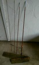VINTAGE SOUTH BEND NO. 59, 9' HEX FLAMED BAMBOO 4 PIECE FLY FISHING ROD  & SOCK