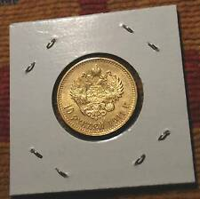 1911 RARE KEA YEAR UNC GOLD COIN OF IMPERIAL RUSSIA RUSSIAN BEAUTY TZAR NICOLAS