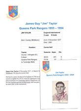 JIM TAYLOR QUEENS PARK RANGERS 1953-1954 RARE ORIGINAL HAND SIGNED PICTURE