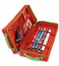 2 X BNWT CHRISTMAS  GIFT WRAP ORGANISER  BAG + COMPARTMENTS  79 X 33 X 15