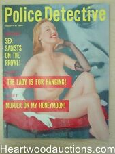 """Police Detective"" August 1957 Pin Up Cover"