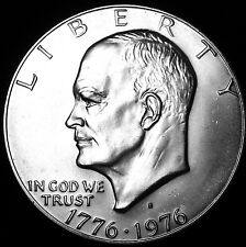 "1976-S Eisenhower Dollar ""BU"" 40% Silver Bicentennial US Coin IKE ""Beautiful"""