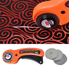 45mm Rotary Cutter +10x Cutting Blade for OLFA Fabric Quilting Sewing Craft Tool