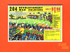 "Revolutionary Soldiers comic book ad 2x3"" fridge/locker magnet vintage toys"