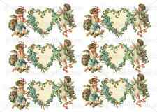 FURNITURE CHERUBS DECALS STICKER SHABBY CHIC FRENCH IMAGE TRANSFER VINTAGE LABEL