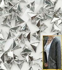 Wholesale 100 Metal Silver Triangle Rivet Spike Studs For Bag Shoes Leathercraft