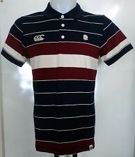 ENGLAND RUGBY 2014 STRIPED POLO SHIRT BY CANTERBURY ADULTS SIZE SMALL BRAND NEW