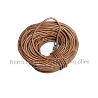 3 METERS OF BROWN ROUND LEATHER LACE FOR WALKING STICK LANYARDS,ARTS, CRAFTS