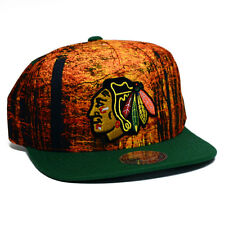 NBA Mitchell & Ness Forest Camo Snapback Hat (OSFM, Chicago Blackhawks)