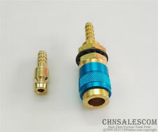 1 SET Gas & water Quick Connector for MIG TIG Welder  Torch Blue Circle