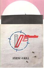 """DURAN DURAN """"A View To A Kill"""" white 7"""" Vinyl Single"""