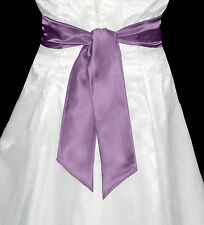 "3""x58"" SATIN Fancy Dress Party Wedding SASH Tie Belt Bow Band Bridesmaid Prom"