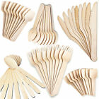 Disposable Wooden Cutlery Eco Friendly Biodegradable Forks Spoons Knives Spades
