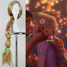 New Disney Movie Tangled Princess Rapunzel Wig Long Cosplay Party Wig Hair