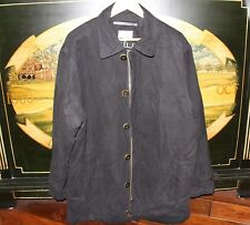 Mens Large - XL Black Micro Suede 3/4 Length Jacket