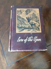"""LURE OF THE OPEN"" Book by Godfrey & Dufresne 1st Edition Leather Hard bound"