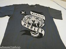 Hurley charcoal Tiger Fury T shirt Men's medium classic fit surf skate TEE logo