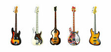 Bass Guitars Greeting Card, DL size