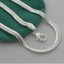"Cool 925Sterling Silver 10MM 20"" Snake Chain Strong Men Chains Necklace YN209"