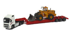 HO Cararama 1:87 diecast scale Volvo FH12 w Lowboy and Volvo L150C Wheel Loader