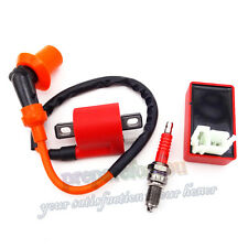 Dirt Bike ATV Quad Racing Ignition Coil CDI Spark Plug For CG 125 150 200 250cc