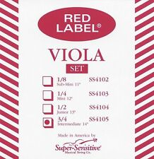 "Super Sensitive Red Label 14"" Viola String Set"
