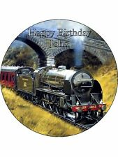"7.5"" Steam Train Personalised Edible Icing Cake Topper"