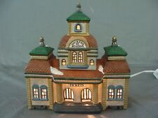 """Holiday Lighted """"Dickens St. Station"""" For Your Christmas Village"""