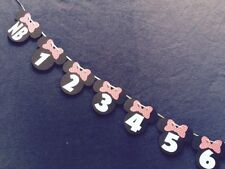 Minnie Mouse 1st Year Photo Banner. Polka Dot Bows.