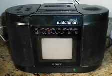 SONY WATCHMAN VINTAGE FD-555 FMSTEREO AM RECEIVER CASSETTE PLAYER