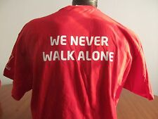 Carlsberg Premier We Never Walk Alone Tshirt  adult  XLarge   Soccer Futbol