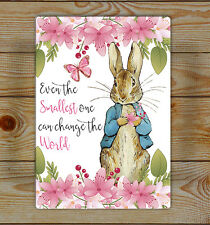 Peter Rabbit, Nursery Lightweight aluminium wall sign... Aluminium Signs