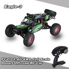 Original FEIYUE FY-03 EAGLE-3 1:12 4WD 2.4G Desert Off-road RC Car Green US U6J6