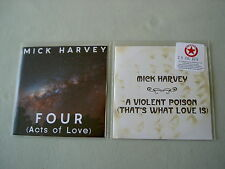 MICK HARVEY job lot of 2 promo CDs A Violent Poison (That's What Love Is)
