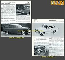 SKODA OCTAVIA TOURING SUPER SPORT + SINGER VOGUE WAGON FICHE AUTO COLLECTION #J1