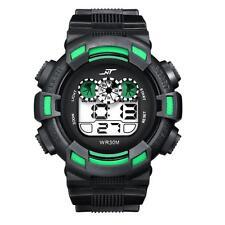 Waterproof Mens Watch Alarm Date Boys LED Digital Watch Rubber Sports Wristwatch