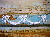 SHABBY & CHIC ROSE CENTER w/ SWAGS* FURNITURE APPLIQUES @  FREE SHIPPING